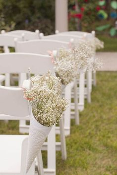 Flowers - inexpensive row decor