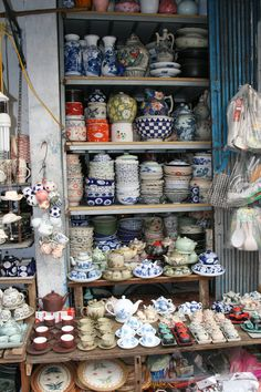 Hanoi - Old quarter - Ceramics store. Vietnam Tours, Hanoi Vietnam, Vietnam Travel, Asia Travel, Hanoi Old Quarter, Good Morning Vietnam, Beautiful Vietnam, Vietnam Voyage, Hoi An