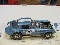 Accurate Miniatures Corvette. This has one of the best small block chevy engines ever made in kit form.