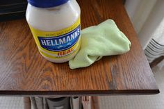 The Home Made Real.  Yes Mayonnaise for furniture polish and glass ring remover on wood.  This website has DIY home improvement ideas, crafts, and home decor ideas