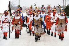 The Shrovetide Procession of Eastern Bohemia Celtic Nations, Getting Drunk, Czech Republic, Folklore, Mardi Gras, Creatures, Horses, Cold, Handmade