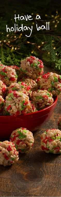 Decorate your platter with these Holiday Ornament treats. Make them with Rice Krispies® Holiday Edition for a sprinkling of red and green. #RiceKrispies #HolidayBaking #HolidayTreats #EdibleGifts #Ornaments #TisTheSeason