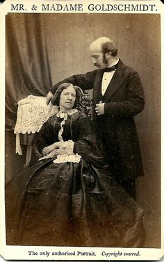 Jenny Lind & Otto Goldschmidt by Murray Jenny Lind, Opera Singers, Women In History, Old Photos, The Past, Faces, Nightingale, Photographs, Pictures