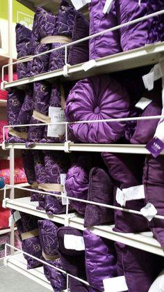 Purple pillows!