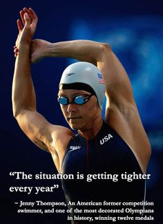 Swimming legend jenny thompson, american former competition swimmer who won twelve olympic medals Swimming Videos, Best Swimming, Open Water Swimming, Swimming Motivation, Sport Motivation, Jenny Thompson, Sprint Triathlon, Olympic Swimmers, Gym Video
