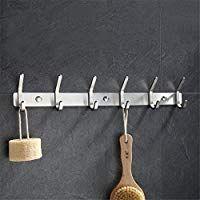 5 Haken Handtuchhalter Wandhalterung Chrom