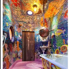 Indoor Mosaic--I don't aspire to mosaic a room like this, but the sheer volume of it is an inspiration.....dj
