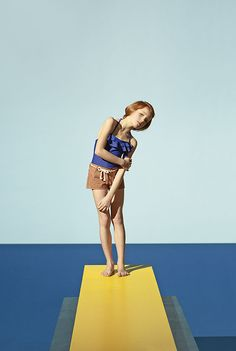I'm loving this retrochildren'seditorial in Milk Magazine. Honestly, how perfect is theDavid Hockney inspired backdrop to this group of adorable kiddos intheir summer swimwear? Too cute.
