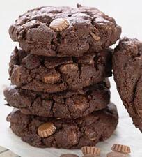 Chocolate Peanut Butter Cookies – moist, delicious chocolate cookies laced with peanut butter chips.
