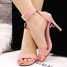 Open Toe Ankle Strap Heels