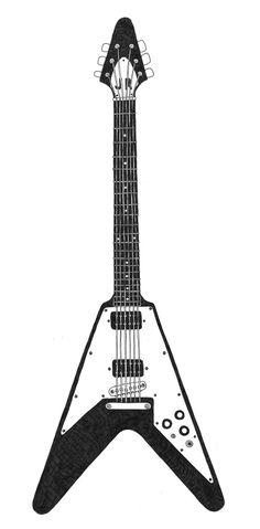 edwards flying v guitar e fv 85d white vamps pinterest guitars. Black Bedroom Furniture Sets. Home Design Ideas
