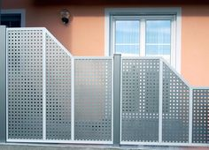 Brix Sichtschutz-Felder als Alu, passend zu vielen Brix-Modellen - Brix Sichtschutz aus Aluminium