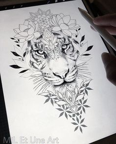 Loral thigh / hip design within reach! With pleasure I tattoo this be … – diy tattoo images Loral thigh / hip design within reach! With pleasure I tattoo this be Diy Tattoo, Tattoo Shop, Tattoo Art, Tattoo Ideas, Floral Tattoo Design, Flower Tattoo Designs, Tattoo Designs For Women, Tiger Tattoo Design, Thigh Tattoo Designs