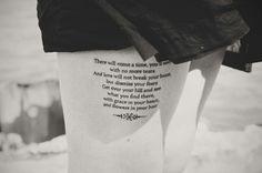 "Mumford & Sons ""After the Storm"" lyrics ▲ Tattoo Artist: Jake Kearney   souvenirs+resonance"