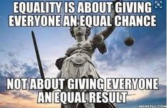 The difference between equality and equity in simpler terms. Equality us where everyone has the same chance to succeed, whereas equity has to be forced upon the individual to spread resources evenly. Equity is bad Quotable Quotes, Wisdom Quotes, Me Quotes, Qoutes, Funny Quotes, Great Quotes, Inspirational Quotes, Political Quotes, Sleep