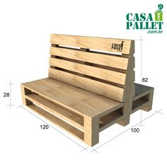 Banco Booth - Pallet - casa com pallet Wooden Sofa Set Designs, Wood Wall Design, Pallet Furniture Designs, Bed Frame Design, Pallet Patio Furniture, Diy Furniture Projects, Mexican Restaurant Decor, Outdoor Restaurant Patio, Modern Restaurant Design