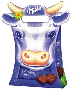 Packaging of the World: Creative Package Design Archive and Gallery: Milka Chocolates Milka Chocolate, Chocolate Heaven, Cube Gum, Choco Loco, Food Art, Fun Food, Cow Pattern, Swiss Design, My Heritage