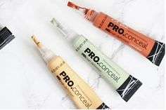 You get your choice of 2 pro concealer. Long wear formula camouflages darkness under the eyes, redness and akin imperfections. Provides complete natural looking coverage, evens skin tone covers dark circles and minimizes lines around eyes. Best Color Corrector, Corrector Makeup, Corrector Palette, Love Makeup, Diy Makeup, Makeup Tips, Drugstore Makeup, Makeup Ideas, Makeup
