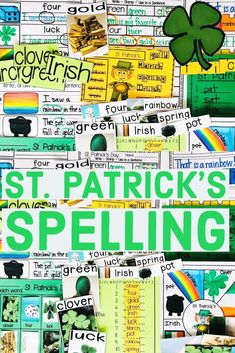 St. Patrick's Day Spelling! St. Patrick's vocabulary words. This is packed with hands-on activities that can be easily differentiated for your students! These are great for workshop, wordwork or literacy stations. The activities are interactive and are so fun for St. Patrick's Day. #stpatricksday #stpatricksdayfun Holiday Activities, Hands On Activities, Word Web, Workshop, Making Words, Sentence Writing, Literacy Stations, Spelling Words, Vocabulary Words