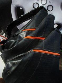 Bolsa Mochila produzida com a câmera de ar do pneu por Neumatica