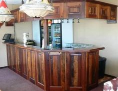 Great bar made of railway sleepers. Railroad Ties, Bar Unit, Railway Sleepers, Garage Bar, Diy Pallet Furniture, Bar Ideas, Liquor Cabinet, Repurposed, Custom Design