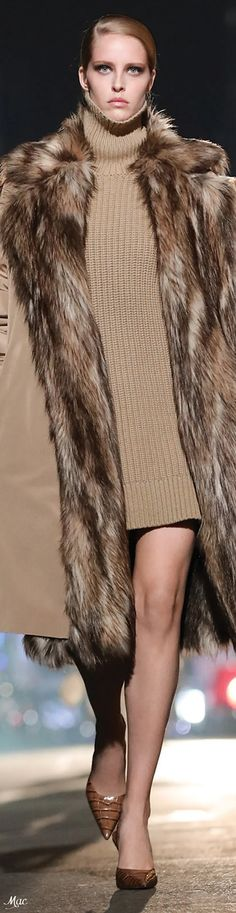 Michael Kors Fall, Eye For Beauty, Michael Kors Collection, Fur Coat, Autumn Fashion, Couture, Elegant, Jackets, Crochet