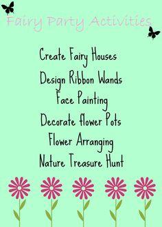 Fairy party activity ideas  #fairyparty