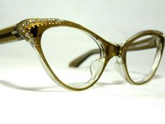 Vintage 60s Cat Eye Glasses. New Old Stock by CollectableSpectacle