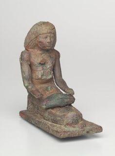 The King's Scribe Si-ese, Grinding Grain, ca. 1390-1352 B.C.E. Bronze. Brooklyn Museum, Charles Edwin Wilbour Fund, 37.125E.