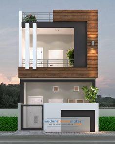 Architect Design House, Duplex House Design, Modern House Design, House Front Wall Design, Single Floor House Design, Front Elevation Designs, House Elevation, 3d House Plans, Kerala House Design
