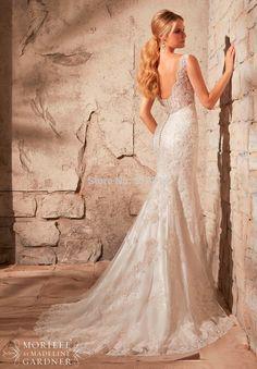 Custom Size Mermaid V-neck Backless China Wedding Dresses 2015 New Design Lace Beading Sexy vestidos de novia  MS8