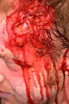 Zombie Make Up - Head wound how-to
