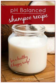 pH Balanced Shampoo Recipe-Make Your Own Shampoo DIY Ideas