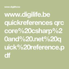 www.digilife.be quickreferences qrc core%20csharp%20and%20.net%20quick%20reference.pdf Net Framework, D 20, Core, Pdf