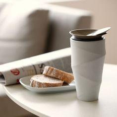 Coffee to go mug, porcelain (via charlesandmarie.com)
