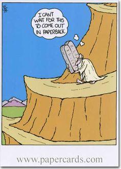 Mystery Fanfare: Cartoon of the Day: Paperback humor Christian Comics, Christian Cartoons, Funny Christian Memes, Christian Humor, Christian Art, Funny Cartoons, Funny Memes, Hilarious, Church Humor
