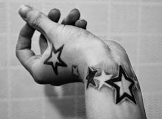 71 Unique Star Tattoos for Men and Women - Beste Tattoo Ideen Meaningful Wrist Tattoos, Cool Wrist Tattoos, Wrist Tattoos For Guys, Unique Tattoos, Mini Tattoos, Sexy Tattoos, Body Art Tattoos, Star Tattoo Designs, Tattoo Designs For Women