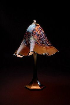 Lowery's Hand Blown Glass Table Lamp - Praline