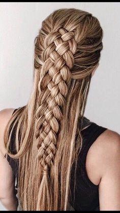 21 Super Gorgeous Braids Hairstyle For Long Hair – You Must Try - Hair Styles Cool Braid Hairstyles, Pretty Hairstyles, Hairstyle Ideas, Elven Hairstyles, Braids For Long Hair, Crazy Braids, Fun Braids, Amazing Braids, Braids Ideas