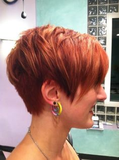 Cool Red Short Haircut for Women