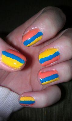 Week 18: beach ball nails