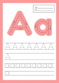 Trace Letters Worksheet For Kids Preschool And School Age. Alphabet Tracing Worksheets, Alphabet Writing, Preschool Writing, Preschool Learning Activities, Kindergarten Worksheets, Worksheets For Kids, Kids Learning, Baby Kind, Writing Skills