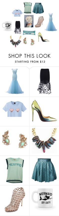 """Mermaid away"" by deerodri on Polyvore featuring Christian Louboutin, LULUS, Wildfox, Sergio Rossi and joyfulday"