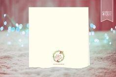 "Weihnachtskarte ""Watercolor Christmas"", Klappkarte 12,5x12,5cm, 300g-Papier Creme oder Birkenholzpapier. Innenteil zum Selbstbeschriften. Abbildung: Rückseite"