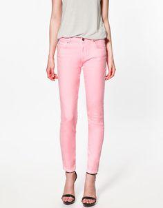 Pop Slim Fit Denim from Zara