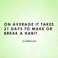 Which habit would you love to break?