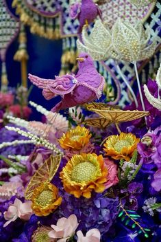 Flower Garlands, Flower Decorations, Artificial Flowers, Flower Designs, Flower Art, Floral Arrangements, Passion, Traditional, Party