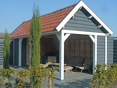 Beits kleuren - Blytunga Svart met Grädde Outdoor Structures, Outdoor Decor, Home Decor, Gardening, Image, Sweden, Colors, House, Role Models