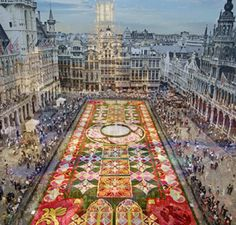 Grand Platz, Brussels, Belgium (Tapis De Fleurs De - Flower Carpet)