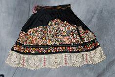 Antique Czech/Moravian apron, part of a folk (kroj) costume.